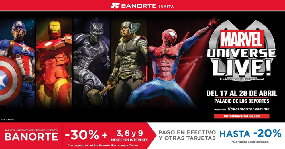 superhéroes de Marvel en CDMX