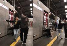 #Video ¡Sabooor! captan a pareja bailando en el Metrobús de la CDMX