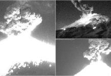 fuerte explosión del volcán popocatépetl