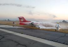 aterrizaje de emergencia en el Aeropuerto de Toluca