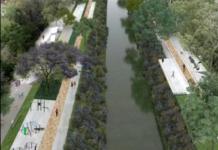 Canal Nacional en un parque lineal