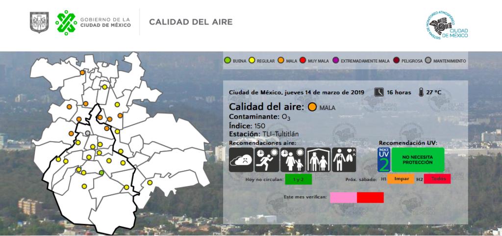 contaminación en la CDMX