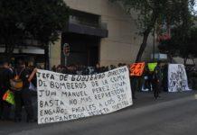¡Aguas! Bomberos mantienen bloqueo en Avenida Insurgentes