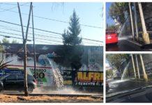 fuga de agua en Periférico Sur