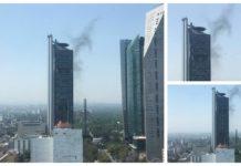 Humo en la Torre Bancomer