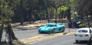 choque del auto de lujo en Reforma