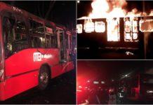 incendio de una unidad del Metrobús
