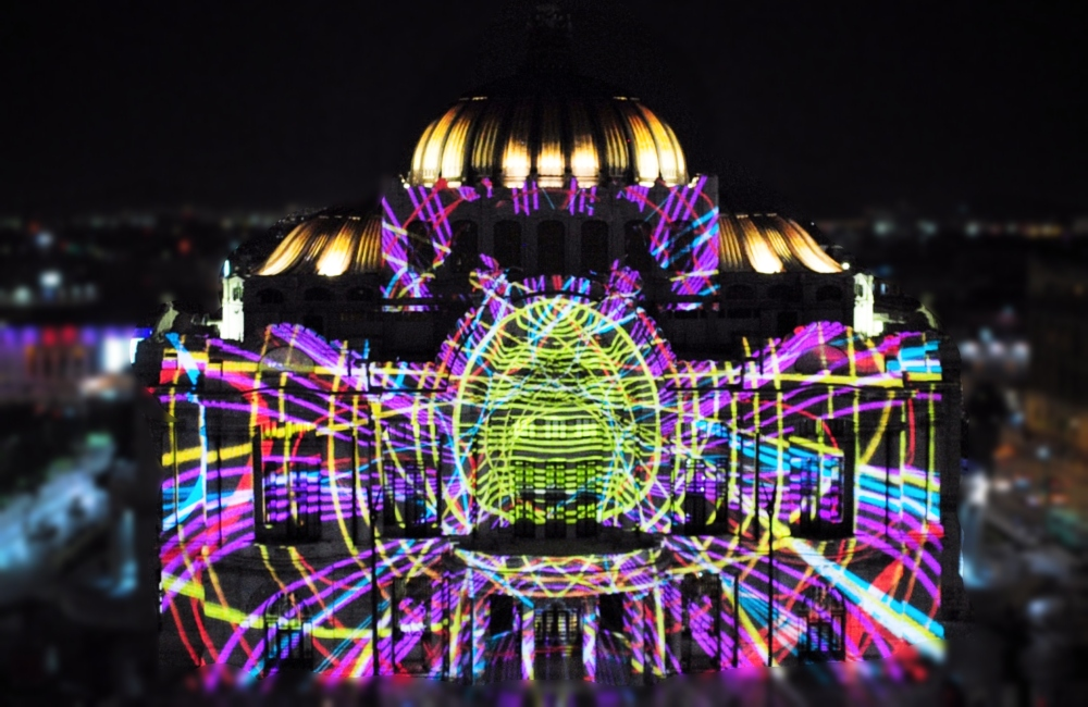 video mapping en el centro de la cdmx