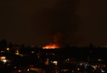 incendio en el Parque Ecológico Xochimilco