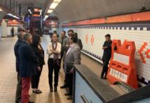 Sheinbaum viajó en el Metro