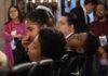 niños en la conferencia de AMLO.