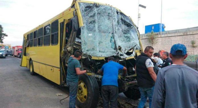 accidente de autobús rumbo a Ceremonia