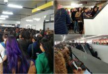 caos en la Línea 9 del metro