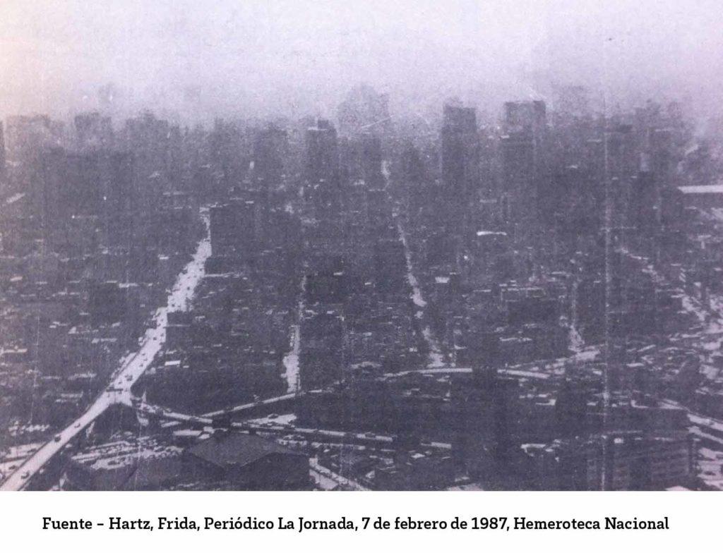 Vista aerea de la CDMX y la contaminacion