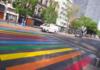 Ciudad Arcoíris paso peatonal
