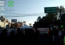 bloqueo en avenida Universidad