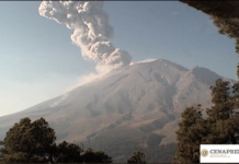 explosiones en el volcán Popocatépetl
