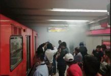 humo en el metro Balderas