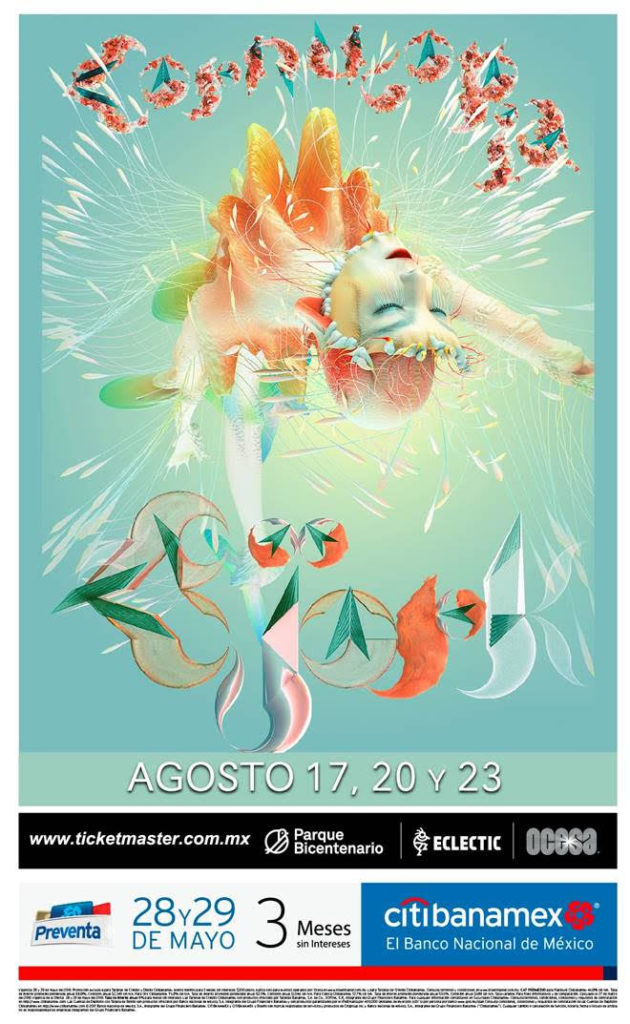 bjork regresa a mexico poster