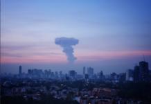 explosión en el volcán Popocatépetl