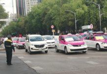 taxistas goteros en la CDMX