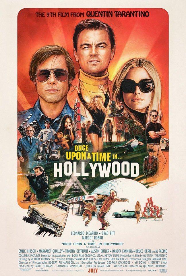 poster oficial de Érase una vez en Hollywood