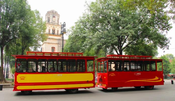 recorrido en Tranvía de Coyoacán
