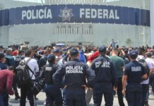 marcha de policías federales