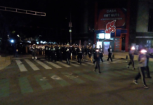 Desfile militar en la colonia Roma