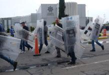 bloqueo de policías federales