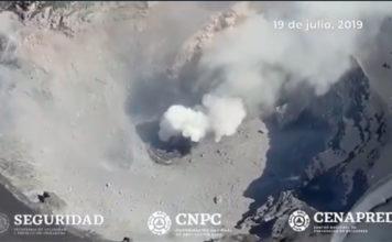 cráter-del-Popocatépetl