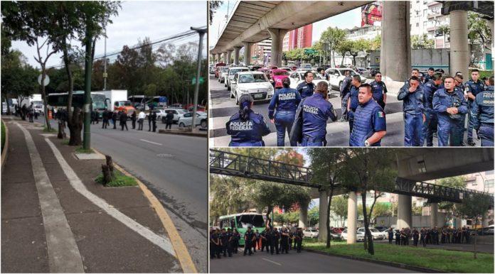 Policías federales bloquean constituyentes