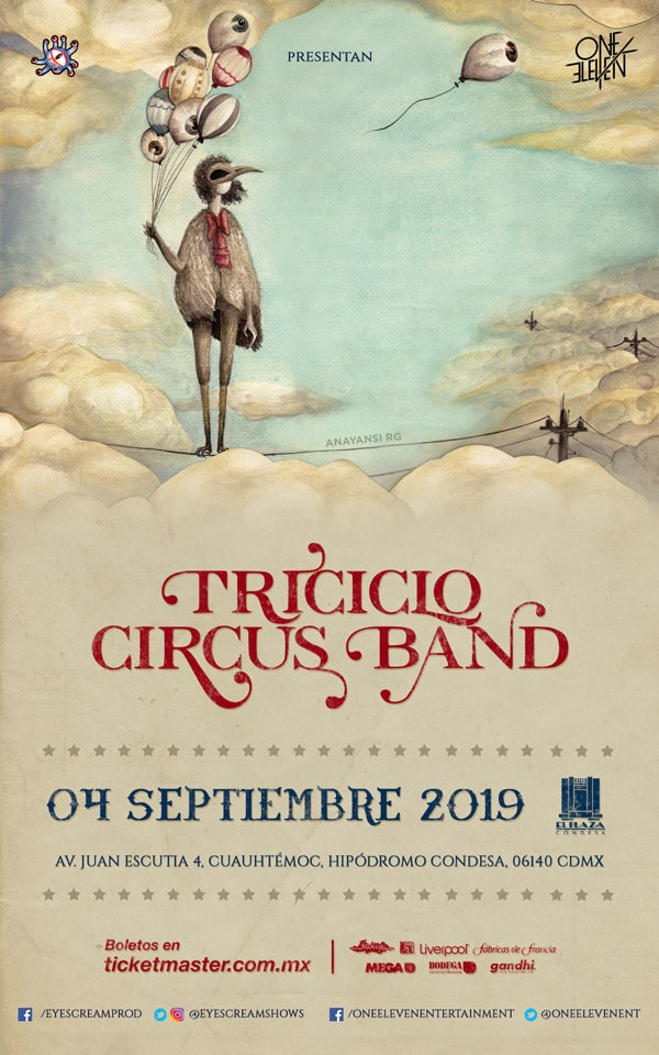 triciclo circus band en el plaza condesa poster