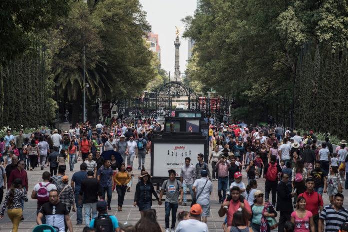 acceso elevado al Bosque de Chapultepec