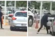 asalto en un centro comercial