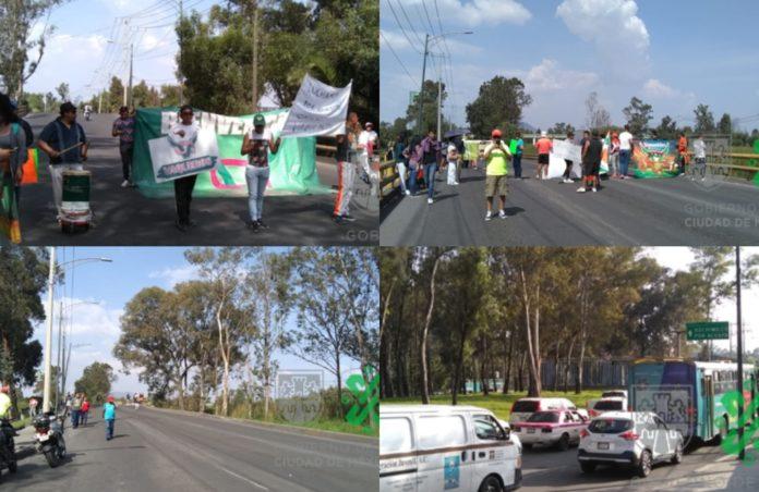 ¡Vete por otro lado! Hay caos por manifestación en Periférico Sur