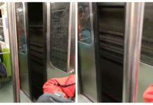 metro con las puertas abiertas