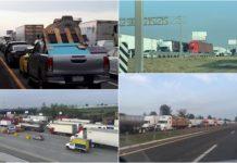 bloqueos en la autopista México-Querétaro