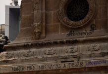 Grafiti Ángel de la Independencia