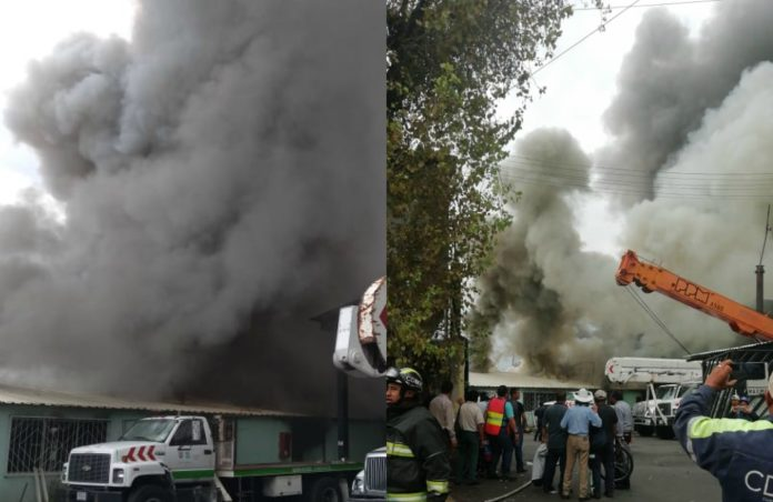 Reportan incendio en iztapalapa