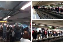 ola en el Metro