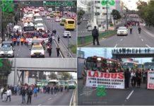 marchas de transportistas en la CDMX