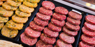 Carne de hamburguesa empaquetada