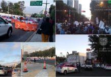 cierres por la marcha de taxistas