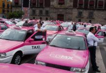 manifestación de taxistas en CDMX