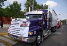 Anuncian manifestación de transportistas en todo el país