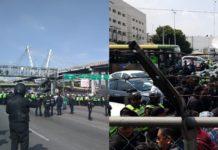 policías bloquean Periférico Sur