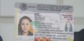 código QR en la credencial de elector