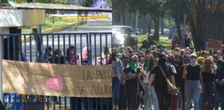 marcha en cu contra acoso en la UNAM