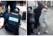 pelea con policías en Reforma